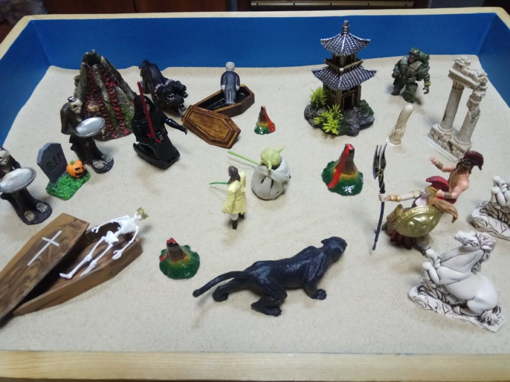 Игра на песке - воины