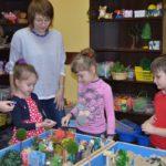 песочная терапия с группой детей